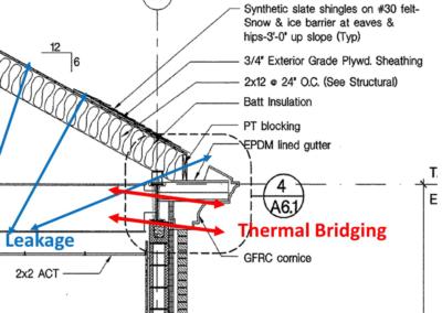 Thermal bridging in design document